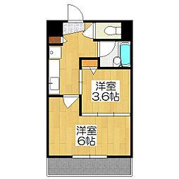 デ・リード金閣寺道[506号室]の間取り