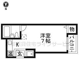 京都府京都市東山区今熊野宝蔵町の賃貸アパートの間取り