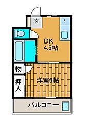 ハイネス南台[1階]の間取り