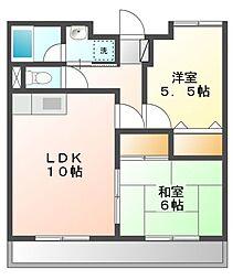ガーデンコートM[2階]の間取り