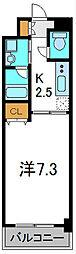 ザッツコート浜町[4階]の間取り