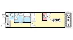 エスポワール諏訪山[203号室]の間取り