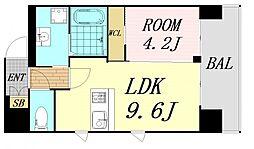 第26関根マンション 4階1LDKの間取り