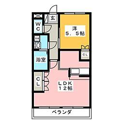 ウッドヴィレッジIII[1階]の間取り