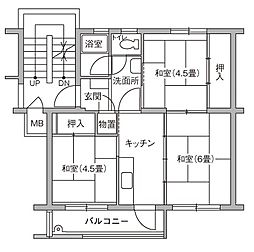 UR豊四季台[100-207号室]の間取り