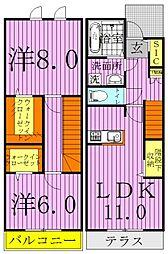 GRANDIR KASHIWATANAKA E棟[102号室]の間取り