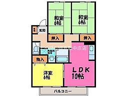 セジュールオレンジ[2階]の間取り