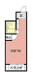 第2北九大前スカイマンション[1003号室]の間取り