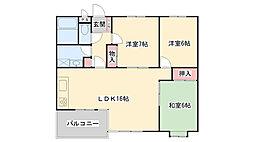 兵庫県芦屋市翠ケ丘町の賃貸マンションの間取り