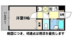 京都府京都市北区衣笠西馬場町の賃貸アパートの間取り