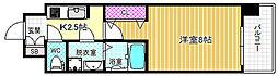 サムティ福島NORTH 7階1Kの間取り