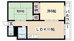 愛知県名古屋市瑞穂区田辺通2丁目の賃貸マンションの間取り