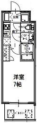 S-RESIDENCE大阪九条North 10階1Kの間取り