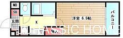 大阪府堺市堺区中三国ヶ丘町1丁の賃貸アパートの間取り