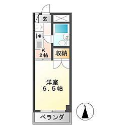 安田学研会館 中棟[1階]の間取り