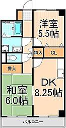 エステート西新井[303号室]の間取り