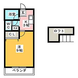 SPRING桜台[2階]の間取り