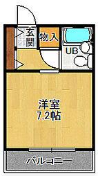 サンハイム立花[4階]の間取り