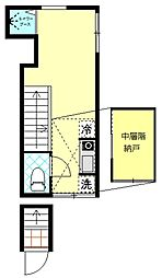 東京都北区志茂5丁目の賃貸アパートの間取り