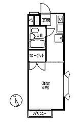 ベルシオン湘南スカイ[2階]の間取り