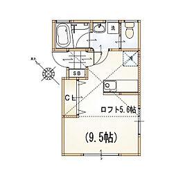 メトロ成増[2階]の間取り