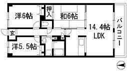 プレステージ池田[3階]の間取り