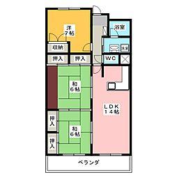 パークサイドフジ[3階]の間取り