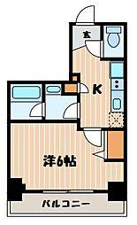 神奈川県横浜市南区万世町1丁目の賃貸マンションの間取り