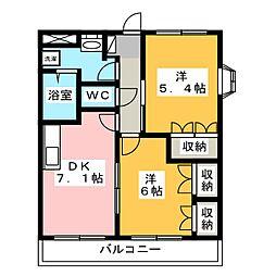ヴィンテージII[2階]の間取り