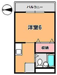 グローリー新大宮[4階]の間取り