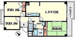 エンドレス千里[2階]の間取り