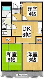 サンハイツコヤマ[3階]の間取り