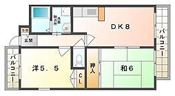 メゾン・ド・フルール[3階]の間取り