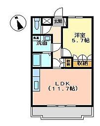 リトルフォレスト[2階]の間取り
