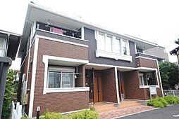 埼玉県越谷市大林の賃貸アパートの外観