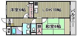 大阪府和泉市室堂町の賃貸マンションの間取り
