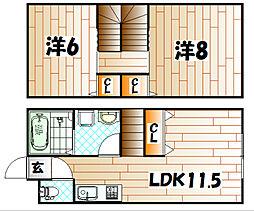HILLS K[3号室]の間取り