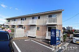 愛知県岡崎市明大寺町字中道の賃貸アパートの外観