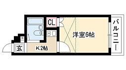 愛知県名古屋市守山区小幡中1丁目の賃貸アパートの間取り
