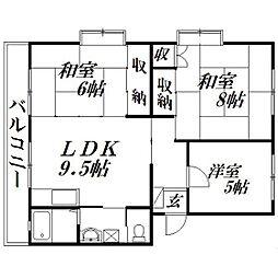 静岡県浜松市中区中島1丁目の賃貸マンションの間取り