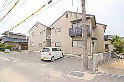 岡山県倉敷市真備町箭田の賃貸アパートの外観