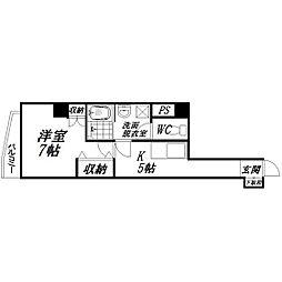 静岡県浜松市中区尾張町の賃貸マンションの間取り