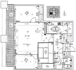 コアマンション大手門タワー[1203号室]の間取り