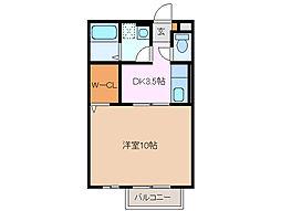 モナリエーレ A[2階]の間取り