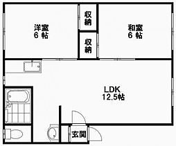青野マンションC[202号室]の間取り