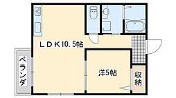 関空アスカ[2階]の間取り