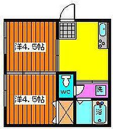 ペンギンハウス[1-A号室]の間取り
