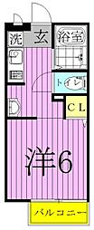 東京都足立区西新井本町1丁目の賃貸アパートの間取り