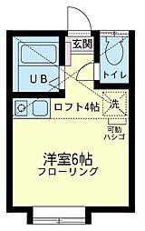 神奈川県横浜市金沢区長浜2丁目の賃貸アパートの間取り