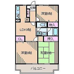 ラ・グランデ大倉山A棟[4階]の間取り